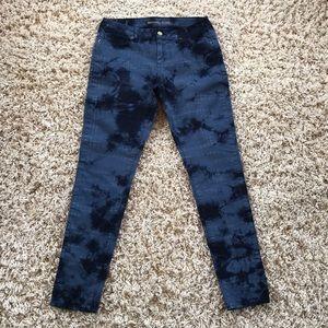 Michael Kors Tye Dye Blue Skinny Jeans Size 4